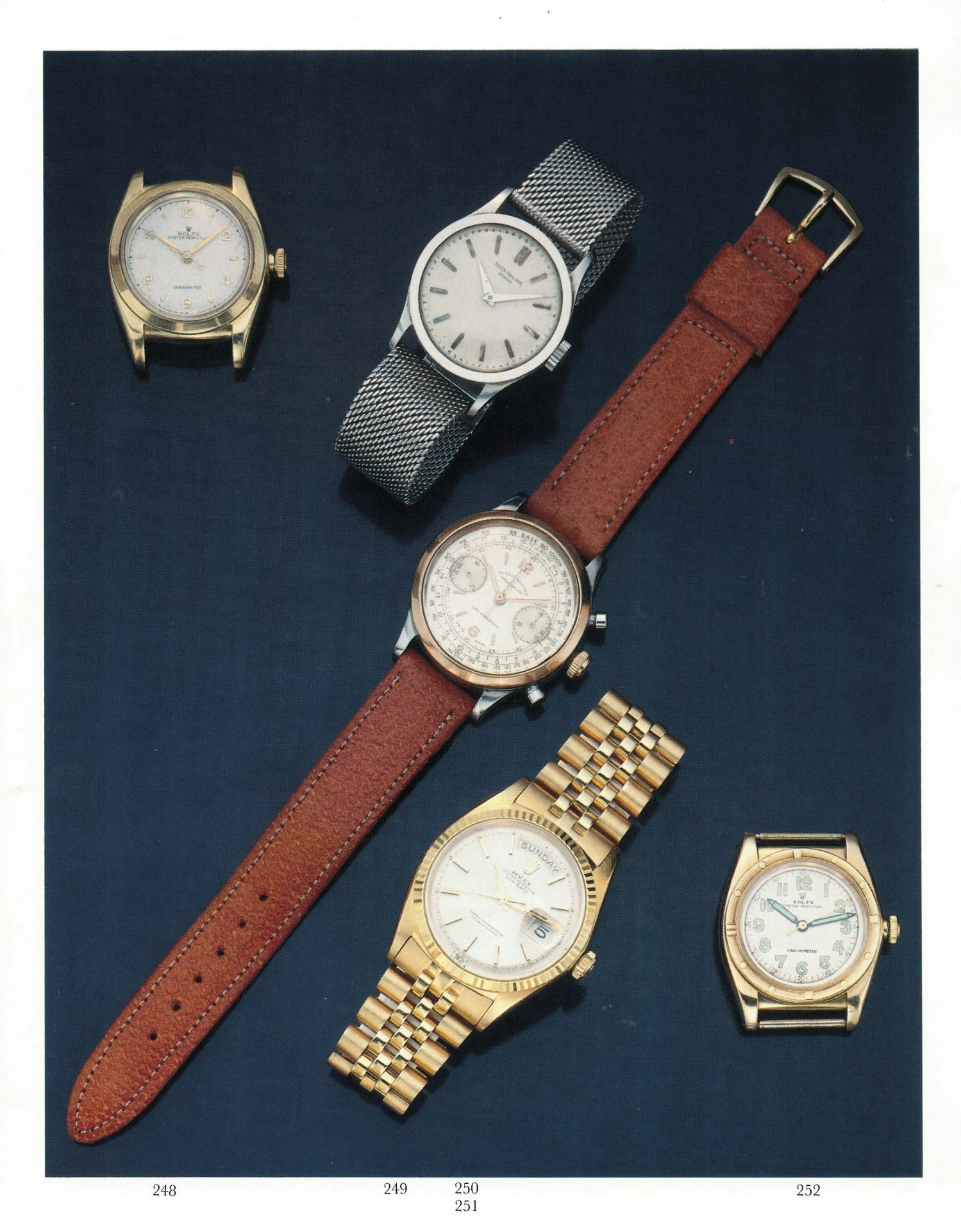 Selection of watches from second watch and jewellery sale in Understanding Andy Warhol as a collector for A Collected Man