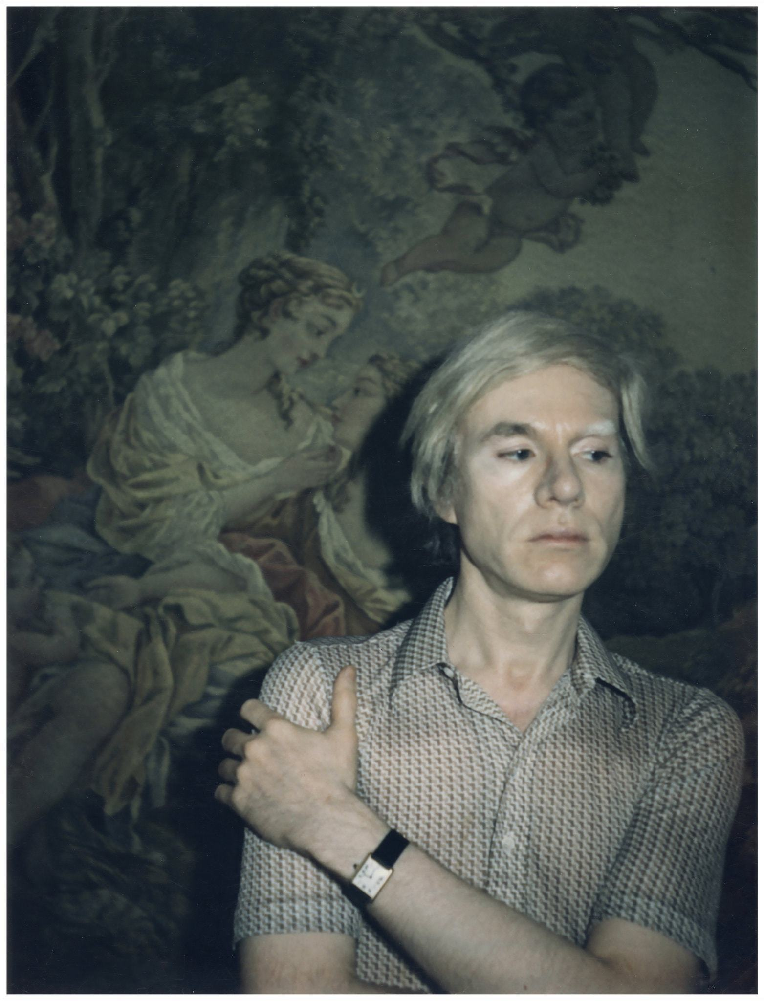 Warhol wearing his Cartier Tank in Understanding Andy Warhol as a collector for A Collected Man